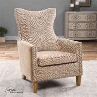 Uttermost Kiango Animal Pattern Armchair