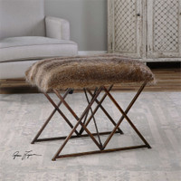 Uttermost Brannen Plush Small Bench