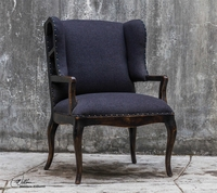 Uttermost Chione Black Armchair