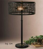Uttermost Alita Black Drum Shade Lamp