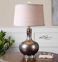 Uttermost Aemilius Gray Glass Table Lamp