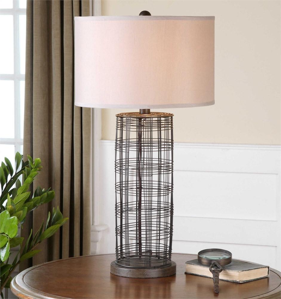 Uttermost Engel Metal Wire Lamp - MyBarnwoodFrames.com