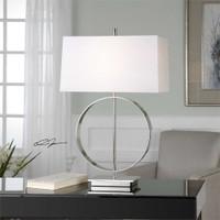 Uttermost Addison Polished Nickel Lamp