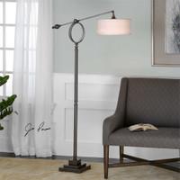 Uttermost Levisa Brushed Bronze Floor Lamp