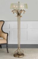 Uttermost Alenya Gold Floor Lamp