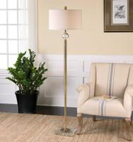 Uttermost Mesita Brass Floor Lamp