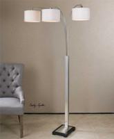 Uttermost Bradenton Nickel 3 Light Floor Lamp