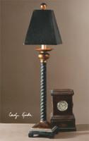 Uttermost Bellcord Black Buffet Lamp