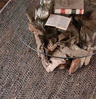 Uttermost Tobais 5 X 8 Rescued Leather & Hemp Rug