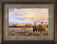 Tim Cox Racing Sundown Framed Print Western Art