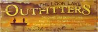 Vintage Signs - Loon Lake Fishing charter