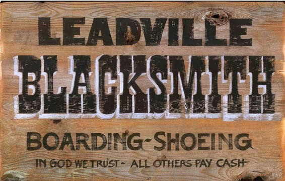 Vintage Blacksmith Sign Rustic Western Signs