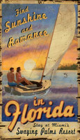 Vintage Sailing Florida Sign
