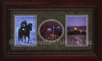 Three western morning scenes with cowboys and horses - David Stoecklein Print
