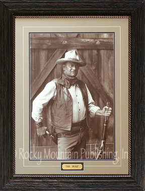 The Duke John Wayne Western Art Print By Bob Willoughby