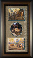 Three wildlife art prints eaturing deer - Manuel & Mitch Mansanarez