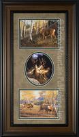 Three wildlife art prints eaturing deer - Manuel & Mitch Mansanarez