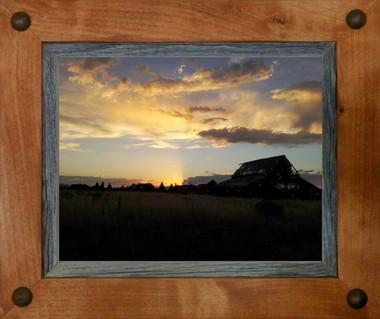 Western Frames-5x7 Wood Frame with Tacks