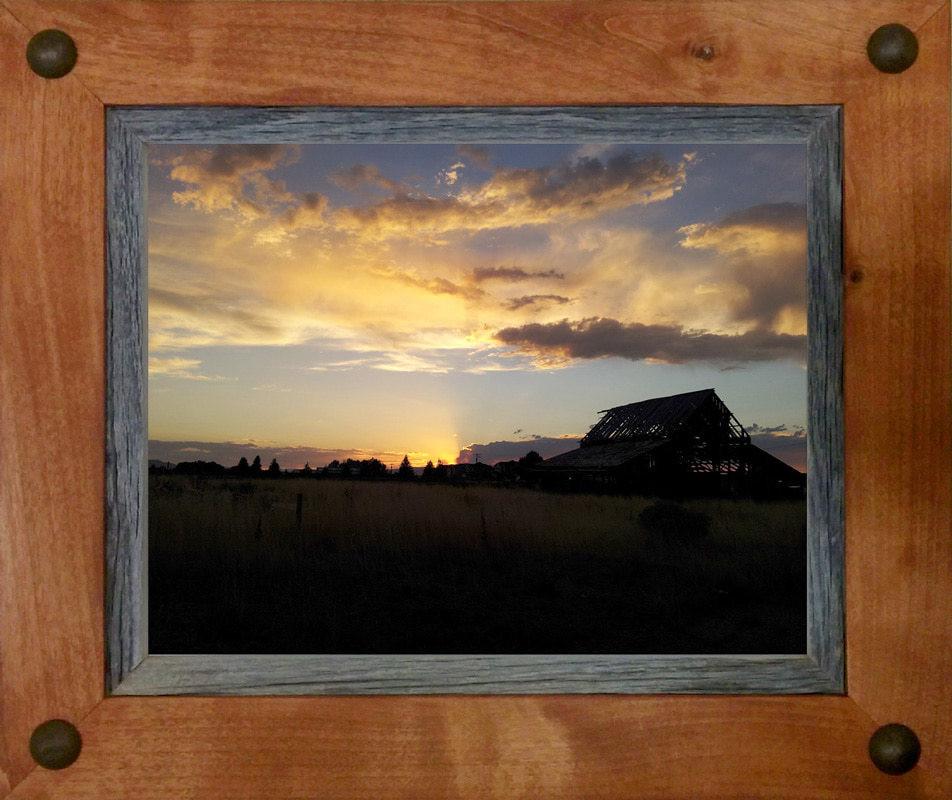 Western Decor Frames: Alder And Barnwood 8x10 Frame With Tacks