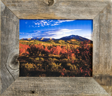 Rustic Picture Frames | 5x5 Reclaimed Barnwood Frame