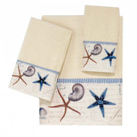 Antigua Ivory Beach-Themed Bath Towels