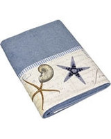 Avanti Antigua Blue Fog Hand Towel - Beach Bath Linens