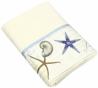 Antigua ivory hand towel - beach bathroom collection