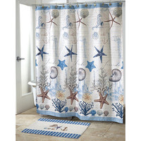 Antigua beach shower curtain - Avanti Linens Nautical Bathroom Accessories