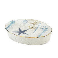 Antigua Ceramic Soap Dish - Beach Bathroom Accessories