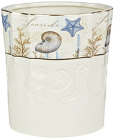 Avanti Antigua Ceramic Waste Basket - Beach Bathroom Accessories