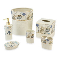 Avanti Linens Antigua Ceramic Bathroom Accessories Collection - 6 pcs.
