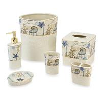 Avanti Linens Antigua Ceramic Bathroom Accessories Collection - 6 pcs.