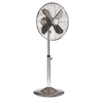 Brushed Stainless Metal Height Adjustable Floor Fan