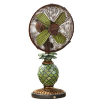 "Mosaic Glass Pineapple 10"" Table Fan Portable Electric Fan"