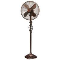 """Prestige 16"""" Standing Floor Fan - Copper Tone Metal"""