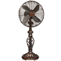 "Prestige 12"" Table Top Fan - Copper Tone Metal Portable Electric Fan"