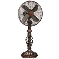 """Prestige 12"""" Table Top Fan - Copper Tone Metal Portable Electric Fan"""