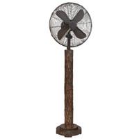 """Faux Fir Bark 16"""" Floor Fan Portable Electric Fan"""