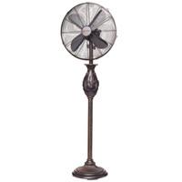"""Fleur De Lis - Copper Metallic 16"""" Floor Fan Portable Electric Fan"""