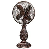 "Fleur De Lis - Copper Metallic 10"" Table Fan Portable Electric Fan"