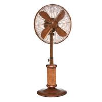 "Nautica Outdoor Fan - 18"" Coastal Style Fan with Faux Rope Accents Portable Electric Fan"