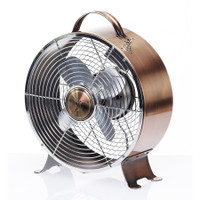 Copper Retro Metal Box Fan Portable Electric Fan