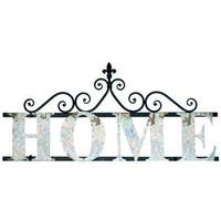"""Metal Wall Decor Sign - """"Home"""""""