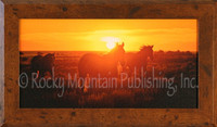 In At Sunset - Framed Western Art - Dan Ballard Framed Giclee