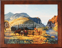 The Round Corral - Clark Kelley Price Framed Giclee - Western Cowboy Art
