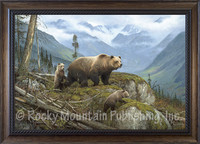 Griz Country - Hayden Lambson Framed Giclee of Grizzly Bears