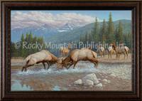 Winner Takes All - Manuel Mansanarez Wildlife Art Giclee - Elk