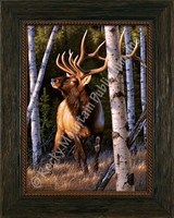 Autumn Glow - Tom Mansanarez Wildlife Elk Art Giclee