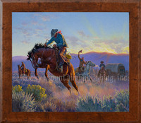 Powder River - Clark Kelley Price Framed Western Art Giclee