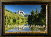 Morning Reflections - Mitchell Mansanarez Landscape - Framed Giclee